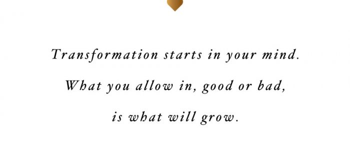 It Starts In Your Mind | Fitness And Self-Love Quote