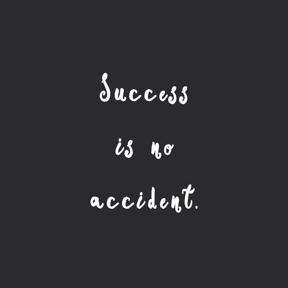 Success is no accident! Browse our collection of motivational wellness and wellbeing quotes and get instant health and fitness inspiration. Stay focused and get fit, healthy and happy! https://www.spotebi.com/workout-motivation/success-is-no-accident/