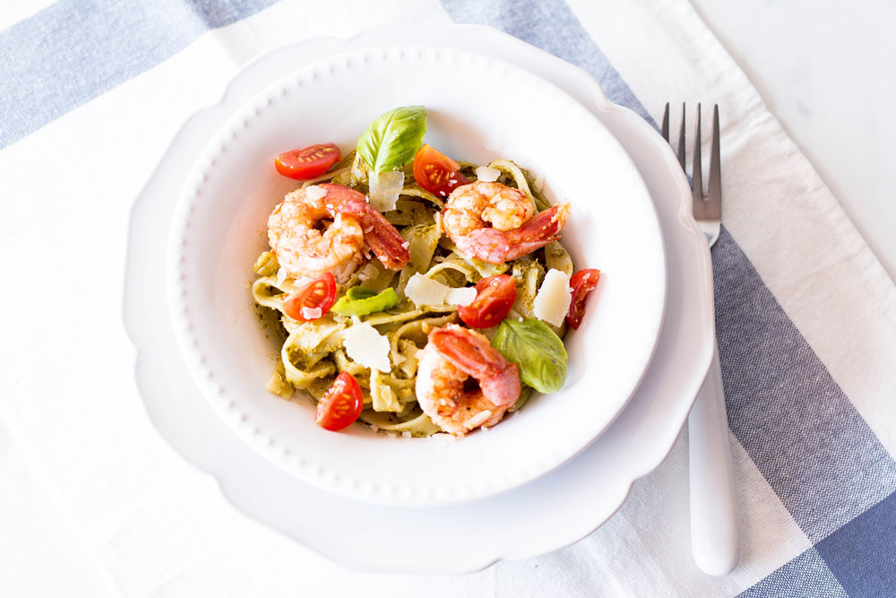 After exercise, make this 20-Minute Pesto Shrimp Pasta and keep the recovery process moving! Dense carb meals that are also rich in protein and healthy fats are best consumed after exercise. They will go into your hungry muscles to replenish the glycogen that was burned during your workout. https://www.spotebi.com/recipes/20-minute-pesto-shrimp-pasta/
