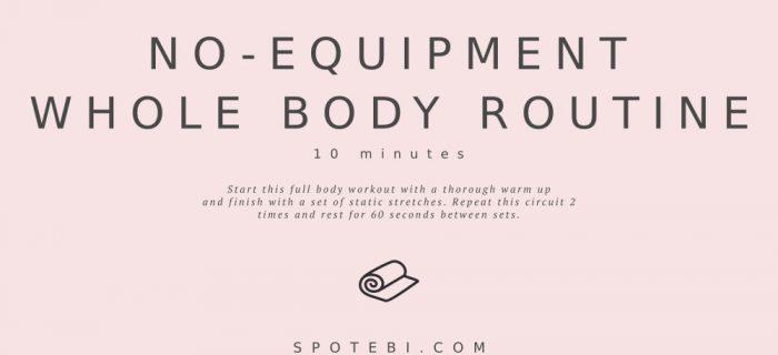 No-Equipment Whole Body Routine