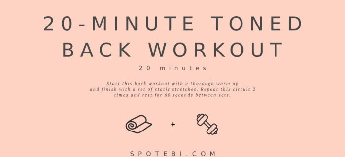 20-Minute Toned Back Workout