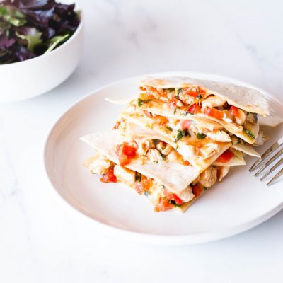 Easy Chicken Quesadilla Recipe / @spotebi