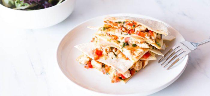 Easy Chicken Quesadilla Recipe