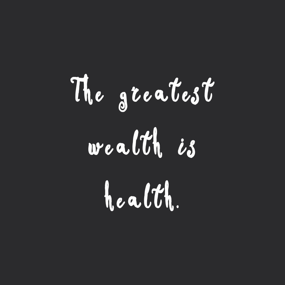 The greatest wealth is health! Browse our collection of motivational healthy eating quotes and get instant wellness and fitness motivation. Stay focused and get fit, healthy and happy! https://www.spotebi.com/workout-motivation/greatest-wealth-is-health/