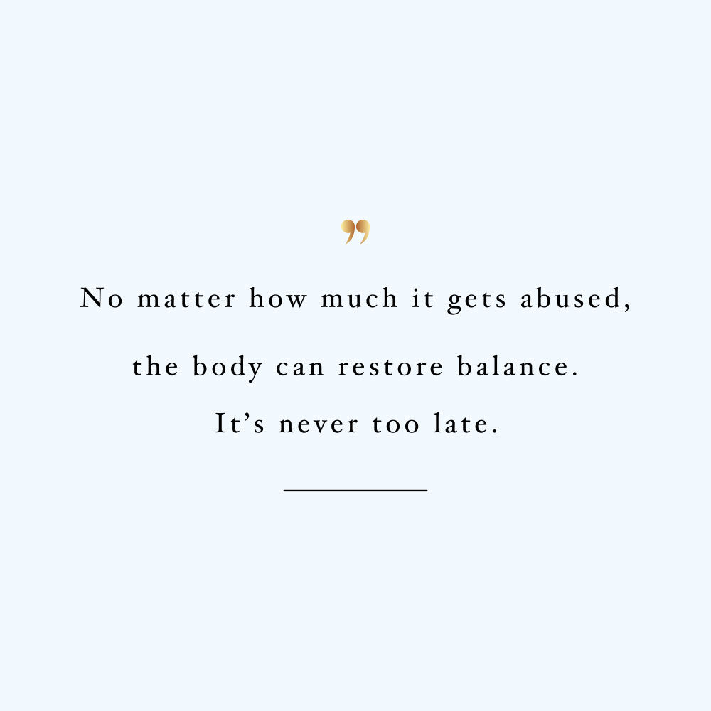 It's never too late! Browse our collection of inspirational wellness and wellbeing quotes and get instant health and healthy eating motivation. Stay focused and get fit, healthy and happy! https://www.spotebi.com/workout-motivation/its-never-too-late/