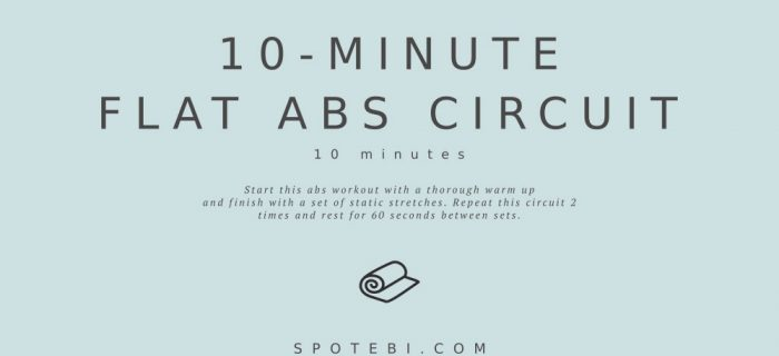 10-Minute Flat Abs Circuit