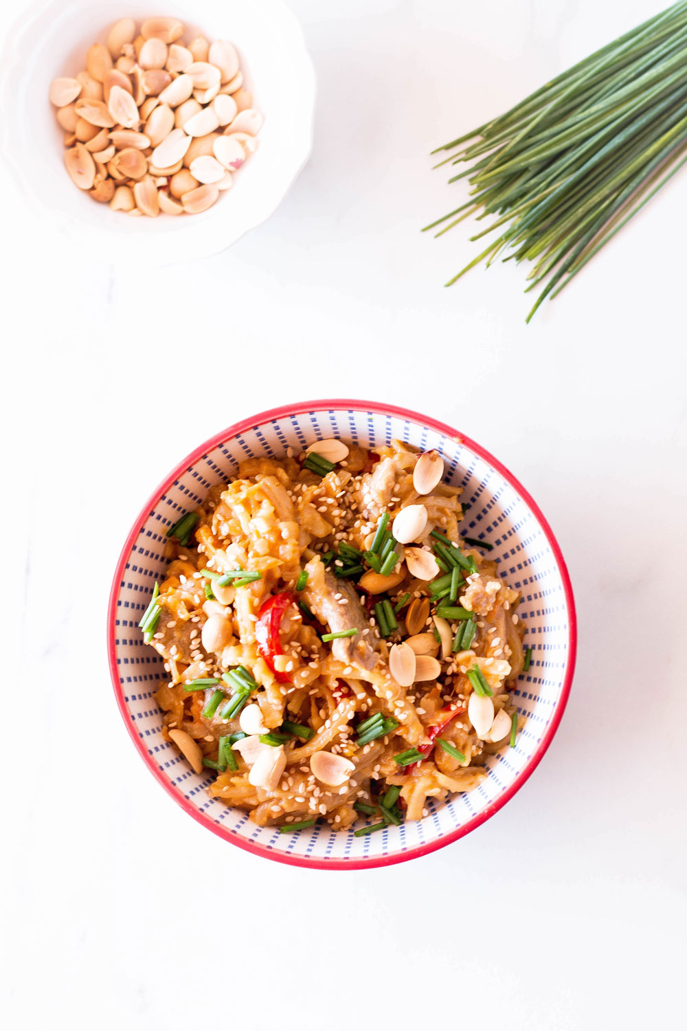 This 20-Minute Creamy Pork Pad Thai Recipe is easy and simple enough for any aspiring Thai cook to make. A hearty, filling, comforting dish with tons of texture, protein, and big flavor! https://www.spotebi.com/recipes/20-minute-creamy-pork-pad-thai-recipe/