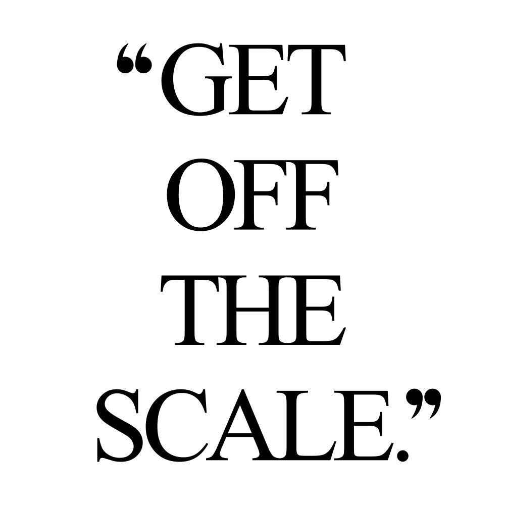 Get off the scale! Browse our collection of inspirational fitness and training quotes and get instant wellness and self-love motivation. Stay focused and get fit, healthy and happy! https://www.spotebi.com/workout-motivation/get-off-the-scale/