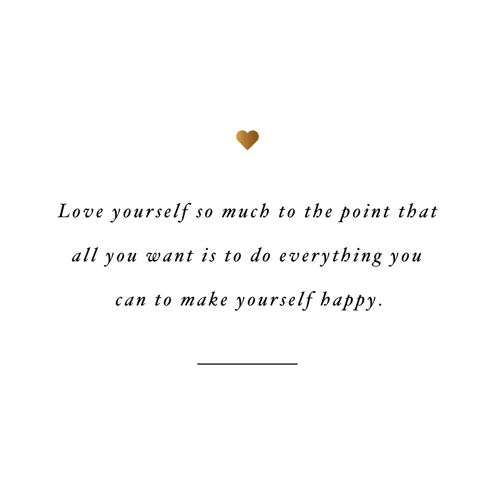 Make yourself happy! Browse our collection of inspirational health and wellness quotes and get instant fitness and training motivation. Stay focused and get fit, healthy and happy! https://www.spotebi.com/workout-motivation/make-yourself-happy/