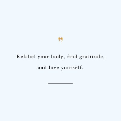 Relabel Your Body | Fitness And Training Inspiration Quote / @spotebi
