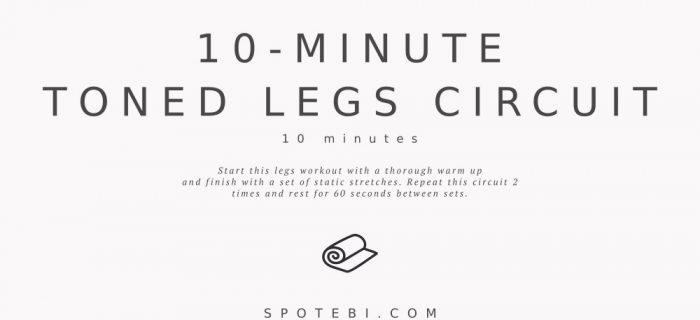 10-Minute No-Equipment Toned Legs Circuit