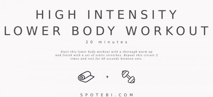 20-Minute High-Intensity Lower Body Workout