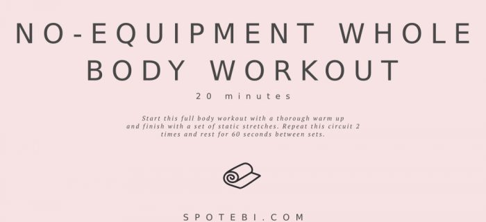 20-Minute No-Equipment Whole Body Workout