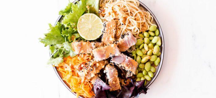 Fresh Tuna Salad With Homemade Peanut Dressing
