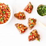 Spicy Chickpea, Tomato & Bell Pepper Toast