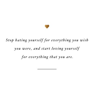 Love Yourself For Everything That You Are | Motivational Wellness And Self-Love Quote / @spotebi