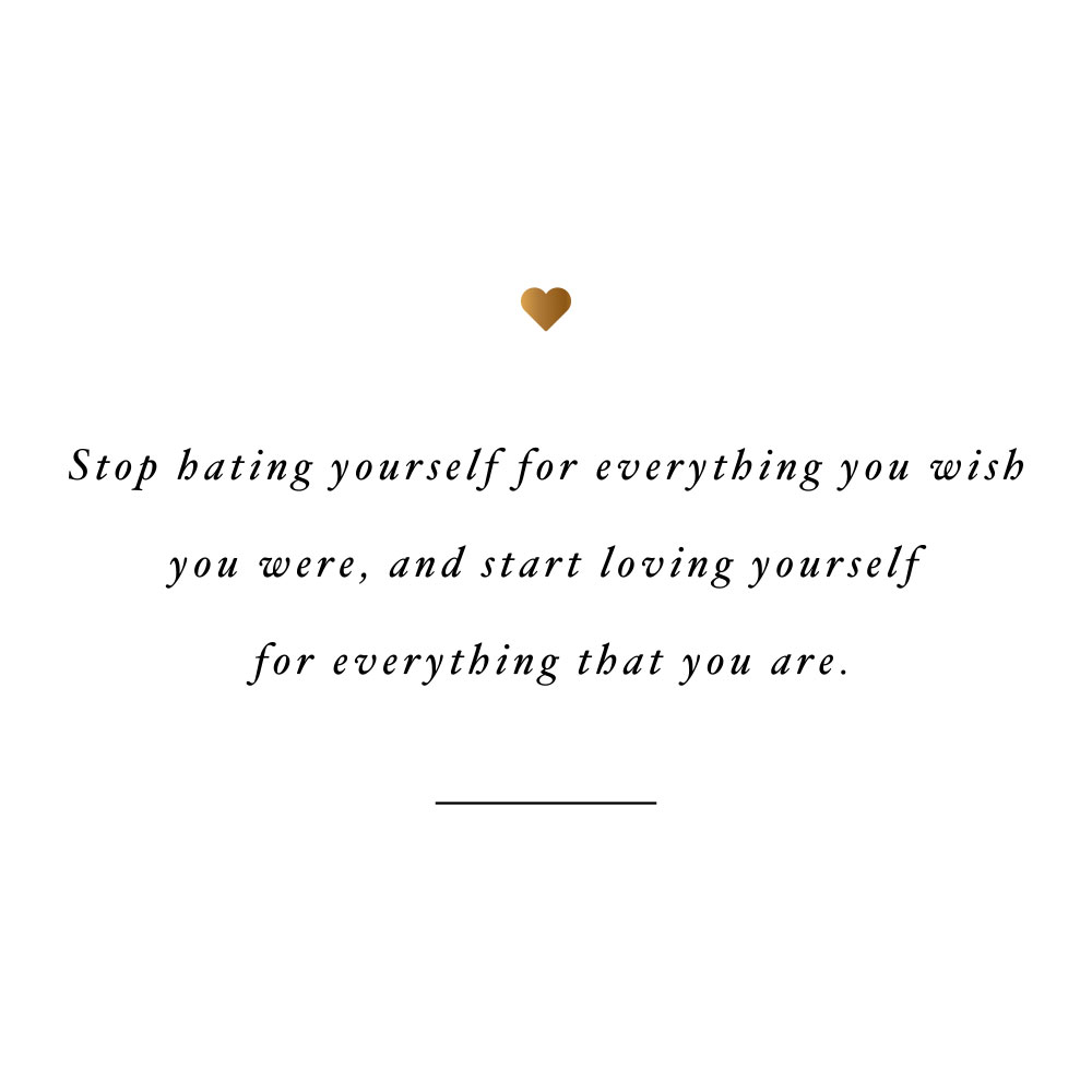 Love yourself for everything that you are! Browse our collection of motivational wellness and self-love quotes and get instant health and fitness inspiration. Stay focused and get fit, healthy and happy! https://www.spotebi.com/workout-motivation/love-yourself-for-everything-that-you-are/