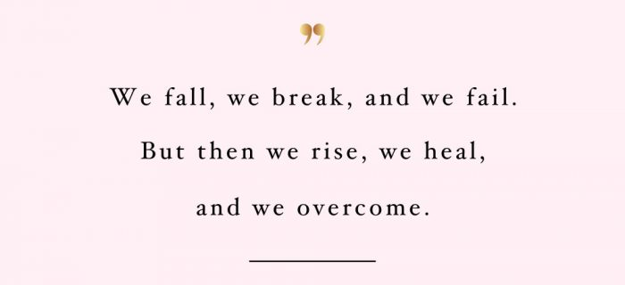 Rise, Heal And Overcome | Wellness And Self-Love Inspiration Quote