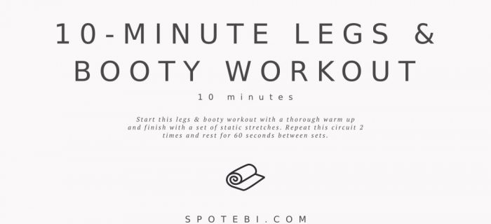 10-Minute No-Equipment Legs & Booty Workout