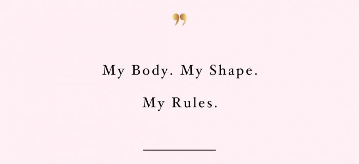 My Body My Rules   Motivational Fitness And Self-Care Quote
