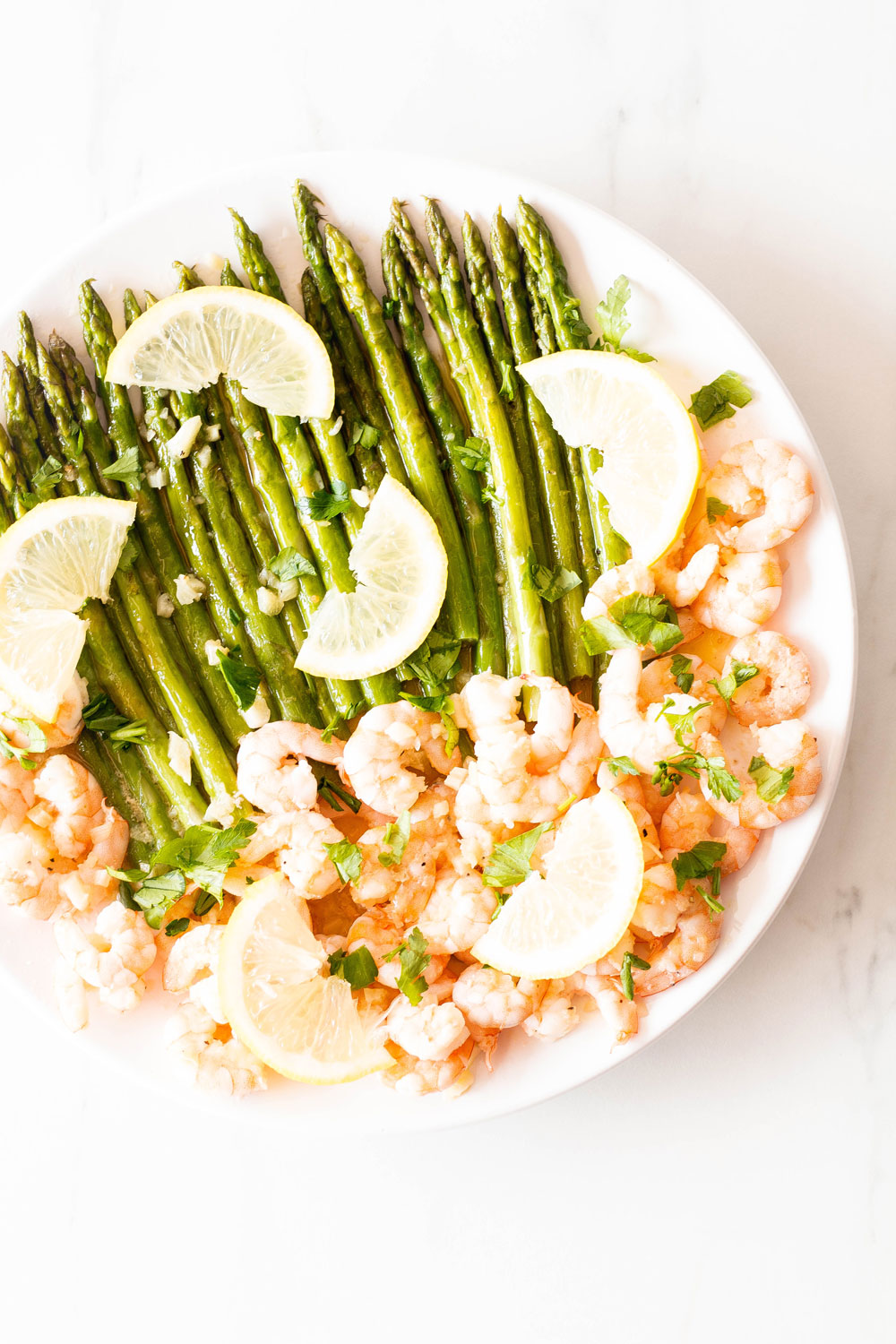 This Sauteed Garlic Shrimp with Asparagus recipe makes a healthy, quick, and delicious dinner! Packed with vitamins, minerals, protein, and fiber, it is going to become your new favorite seafood dish! https://www.spotebi.com/recipes/sauteed-garlic-shrimp-asparagus/