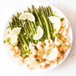 Sauteed Garlic Shrimp with Asparagus