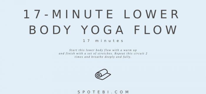 17-Minute Lower Body Yoga Flow