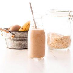 Banana-Oat Morning Smoothie Recipe / @spotebi