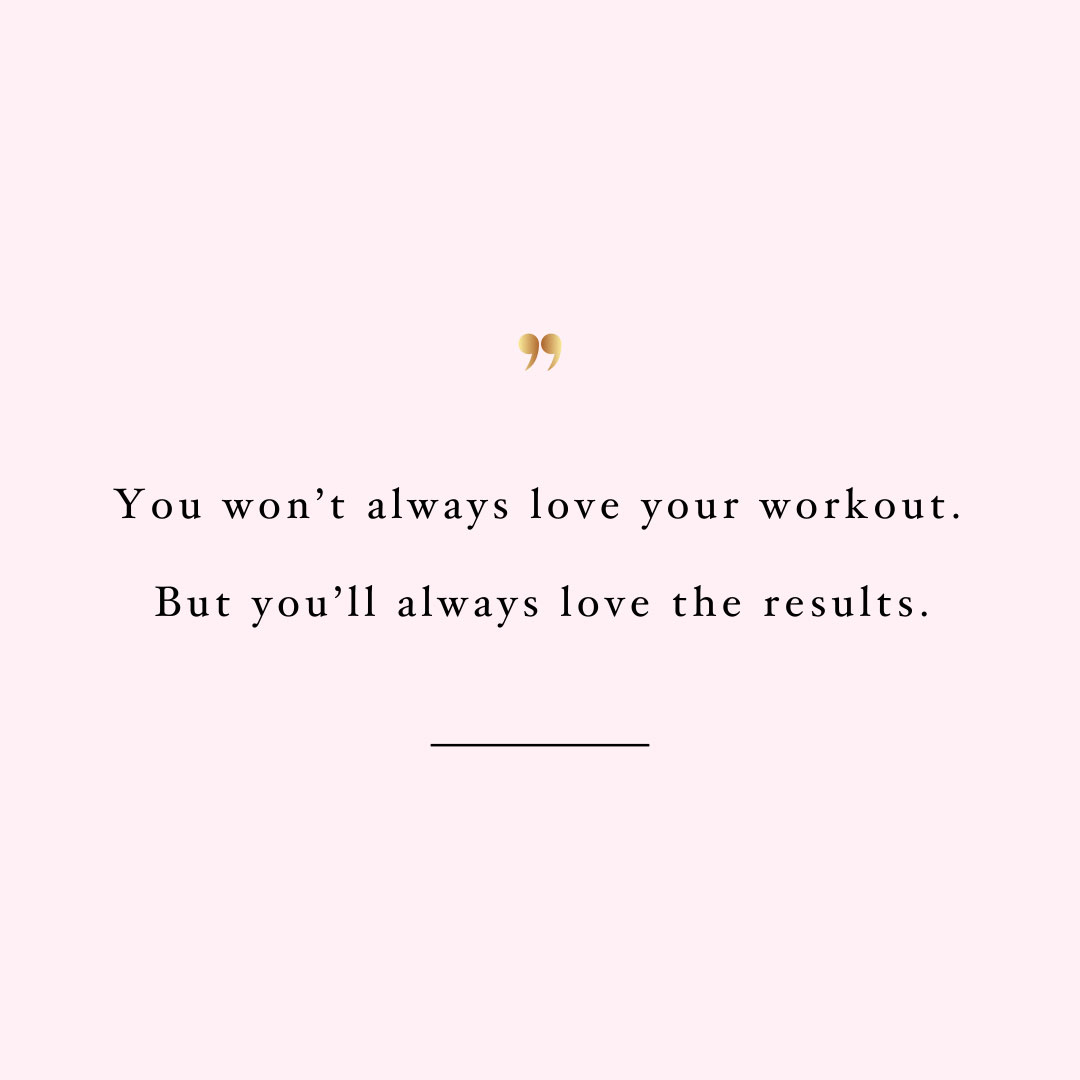 You will love the results! Browse our collection of inspirational health and wellness quotes and get instant fitness and self-care motivation. Stay focused and get fit, healthy and happy! https://www.spotebi.com/workout-motivation/you-will-love-the-results/