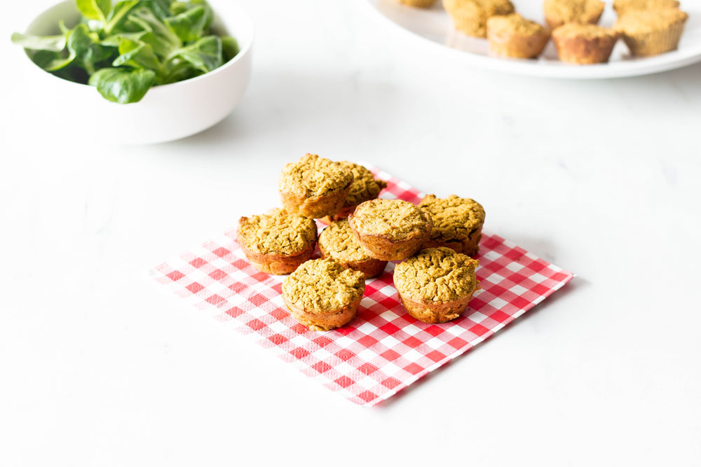 These Moroccan White Bean & Rice Flour Bites are budget, gluten-free, vegetarian, and the best part is that they're easy to make and portable. Just mix everything in a blender and bake in the oven for some tasty breakfast or lunch on the go. https://www.spotebi.com/recipes/moroccan-white-bean-rice-flour-bites/