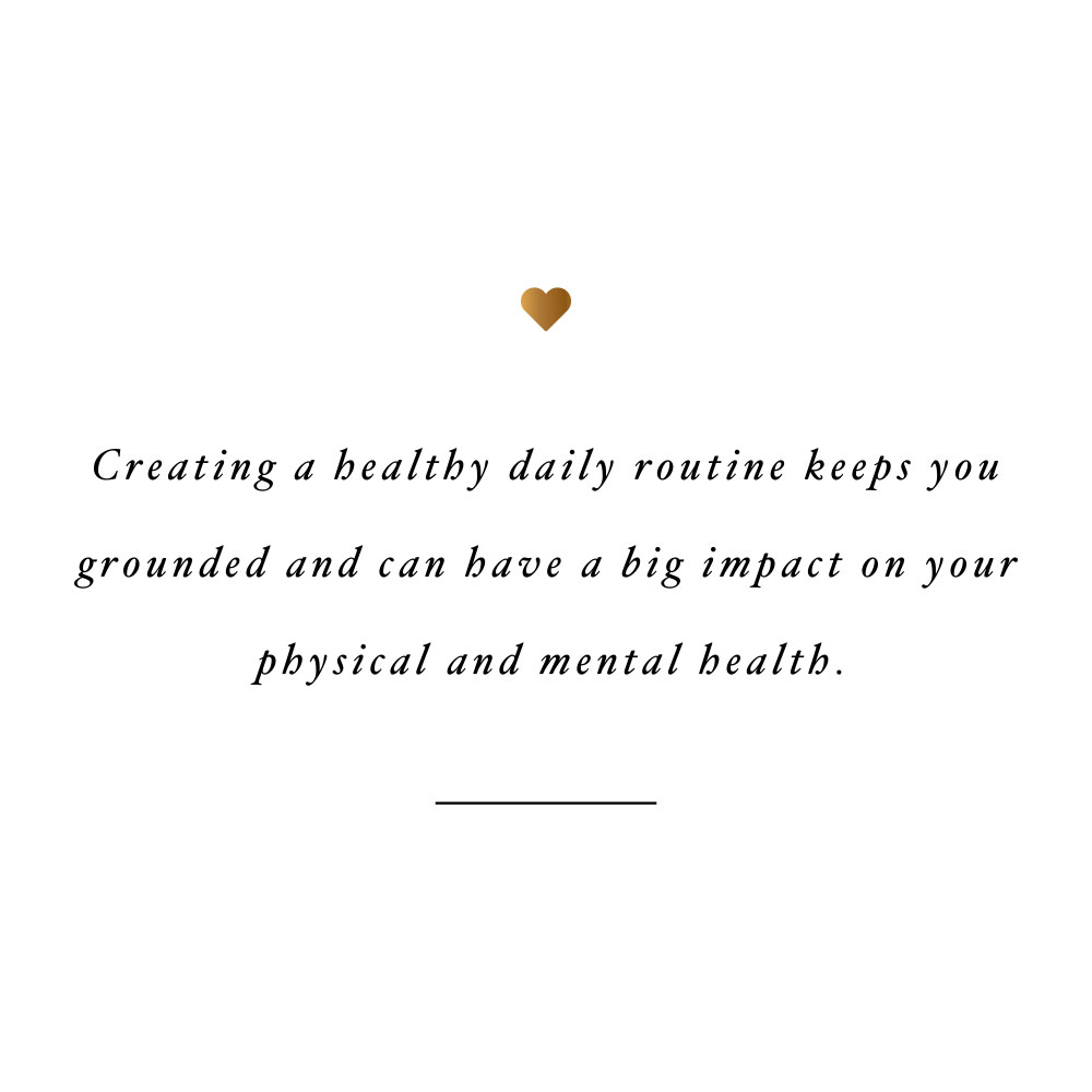 Healthy daily routine! Browse our collection of motivational health and fitness quotes and get instant wellness and exercise inspiration. Stay focused and get fit, healthy and happy! https://www.spotebi.com/workout-motivation/healthy-daily-routine/