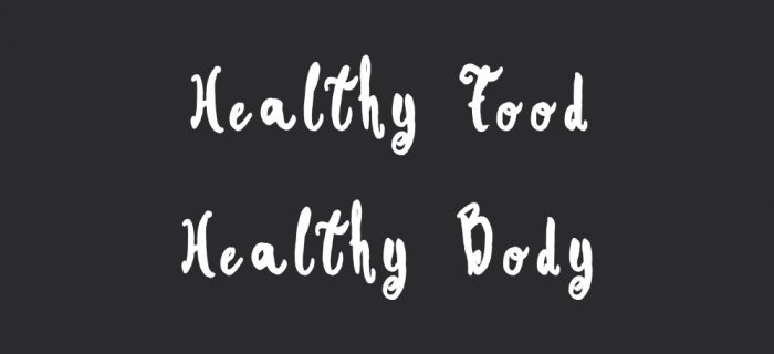 Healthy Food Healthy Body | Wellness And Exercise Motivation Quote
