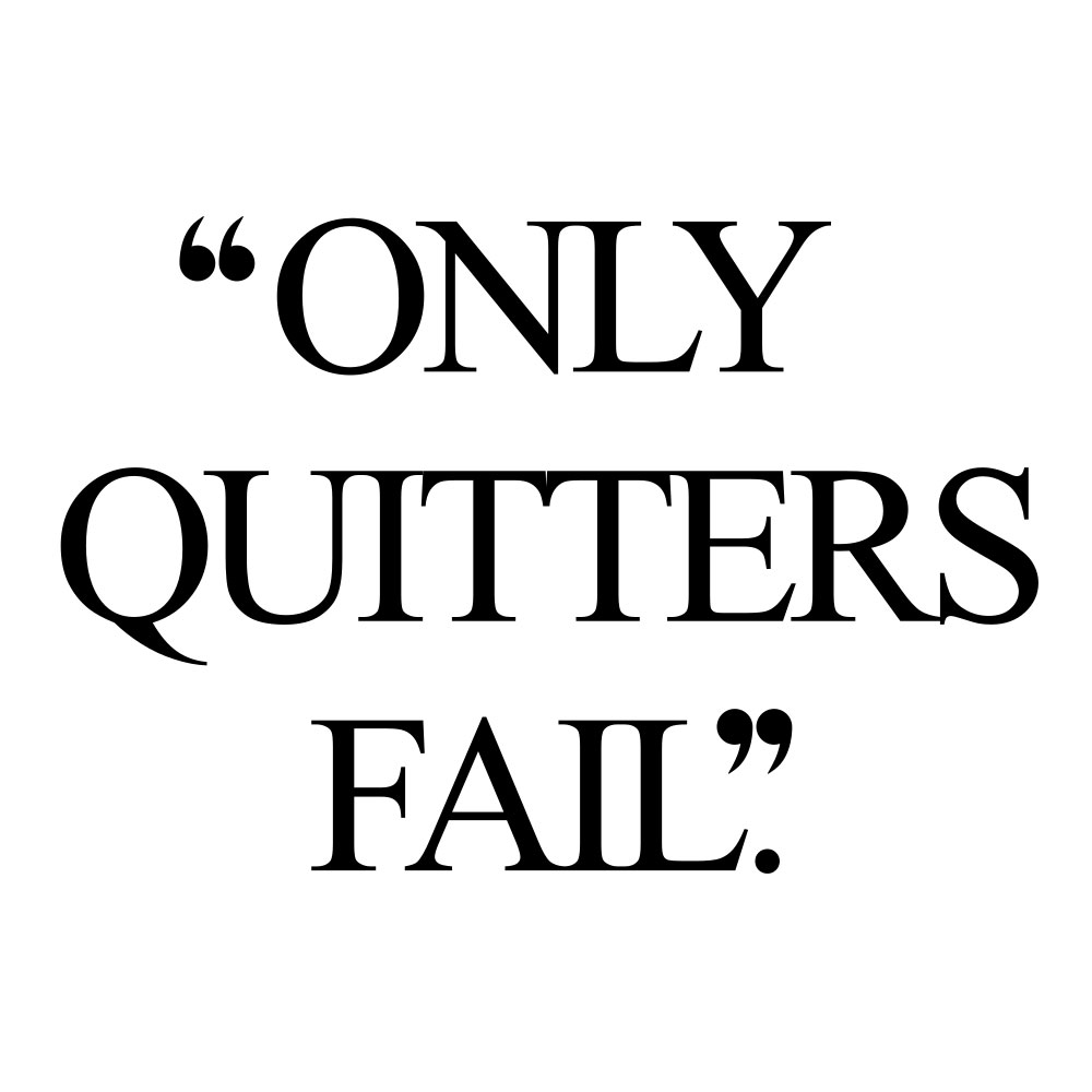Only quitters fail! Browse our collection of motivational exercise and healthy lifestyle quotes and get instant fitness and self-care inspiration. Stay focused and get fit, healthy and happy! https://www.spotebi.com/workout-motivation/only-quitters-fail/