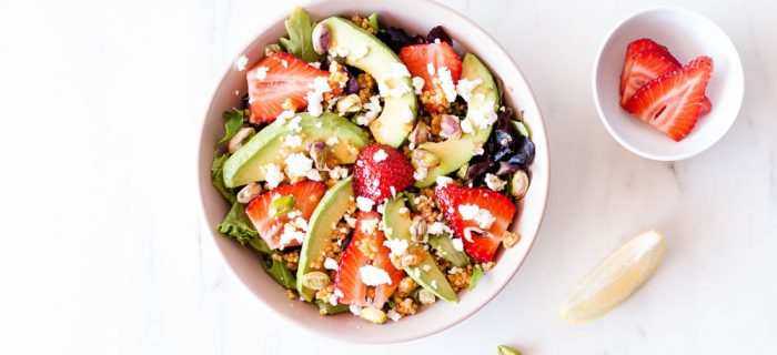 Strawberry, Avocado & Feta Summer Salad