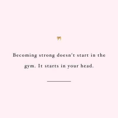 Strength Starts In Your Head | Motivational Exercise And Healthy Lifestyle Quote / @spotebi