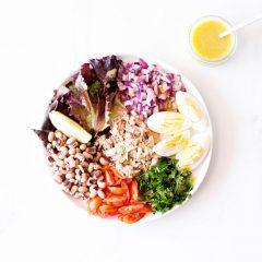 Tuna, Egg & Black Eyed Pea Salad Recipe / @spotebi
