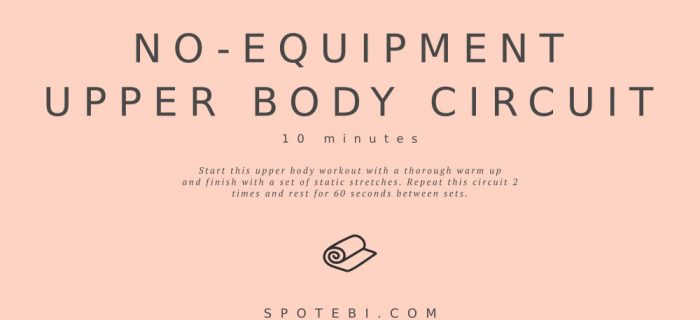 10-Minute No-Equipment Upper Body Circuit