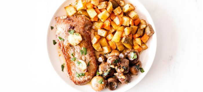 Pan-Seared Steak with Garlic Mushrooms