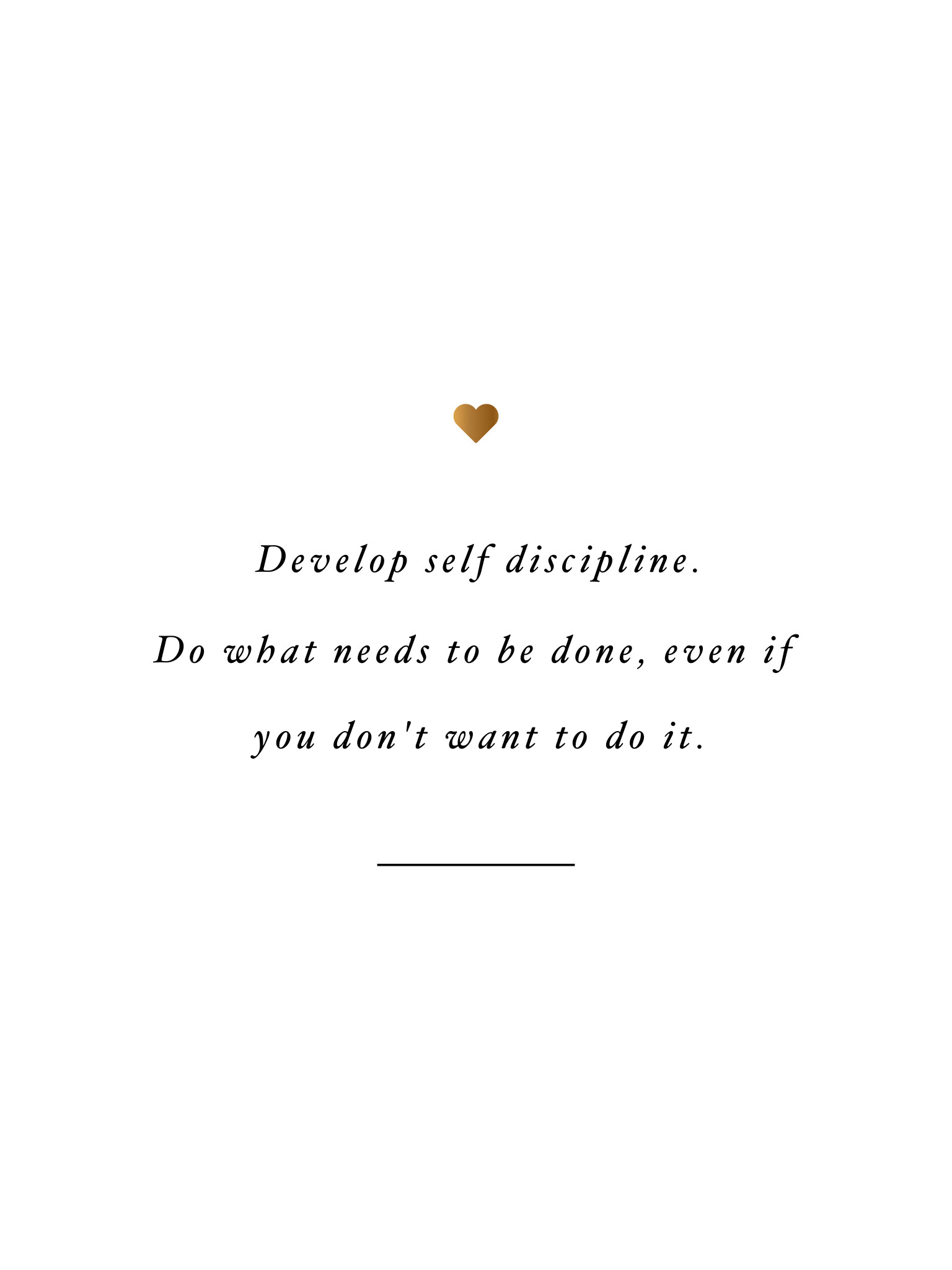 Develop Self Discipline Inspirational Wallpapers